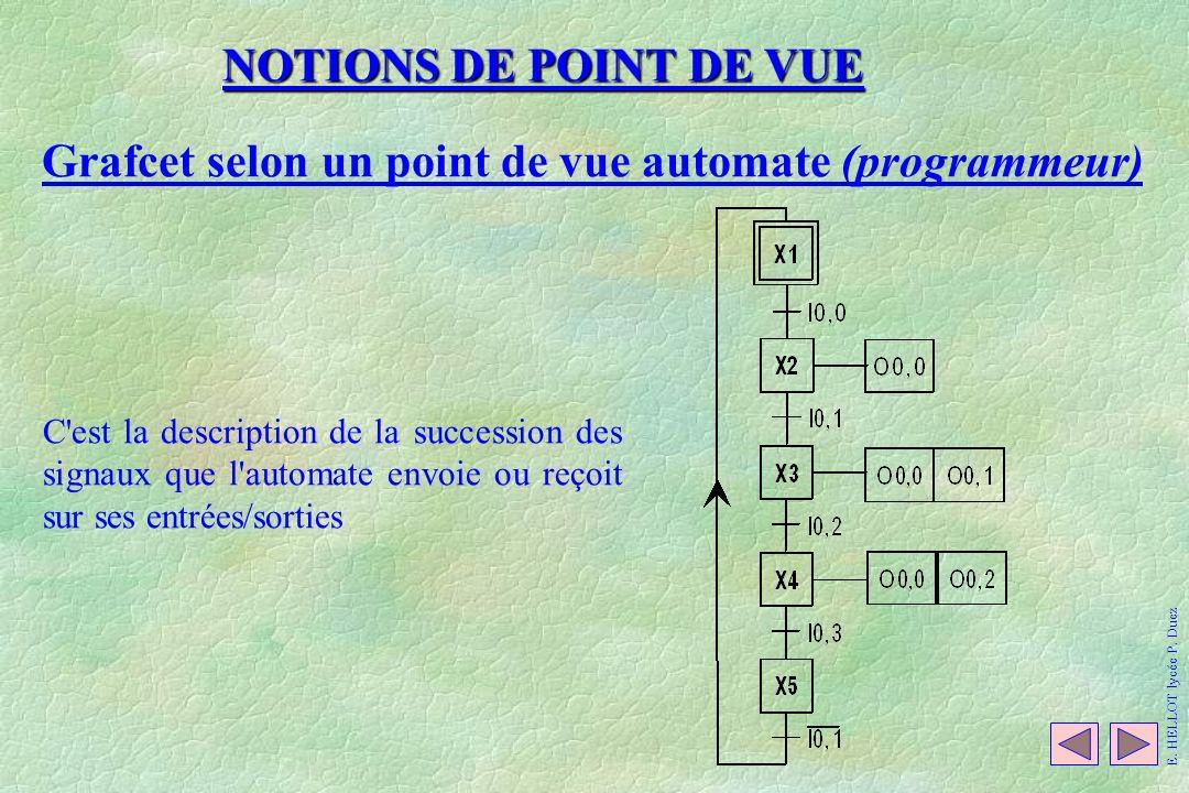 Grafcet selon un point de vue automate (programmeur)