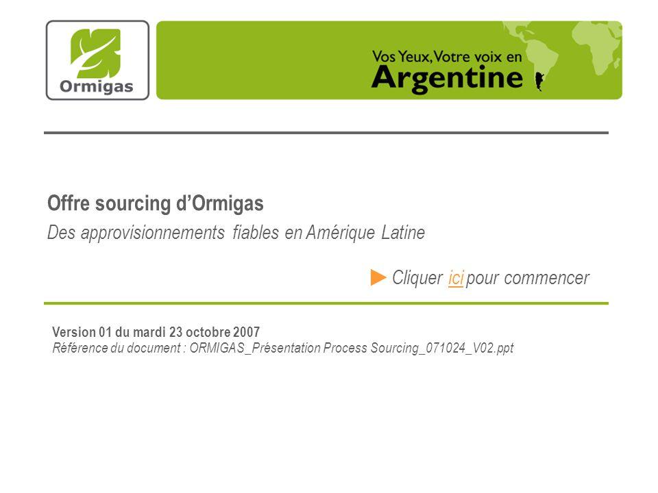 Offre sourcing d'Ormigas