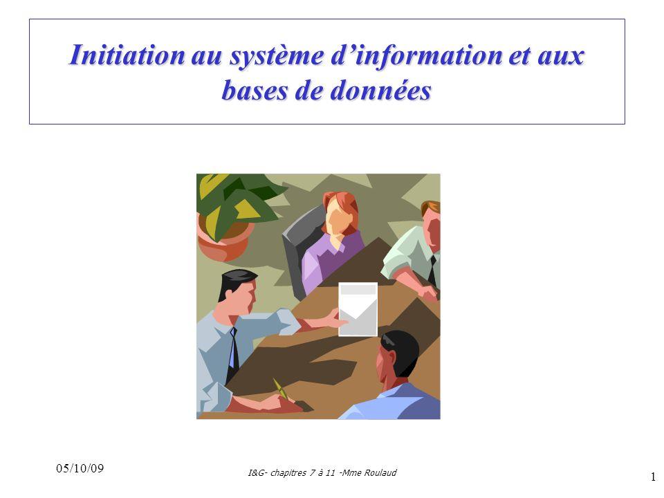 Initiation au système d'information et aux bases de données