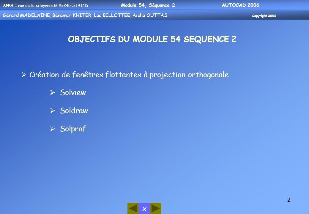 OBJECTIFS DU MODULE 54 SEQUENCE 2