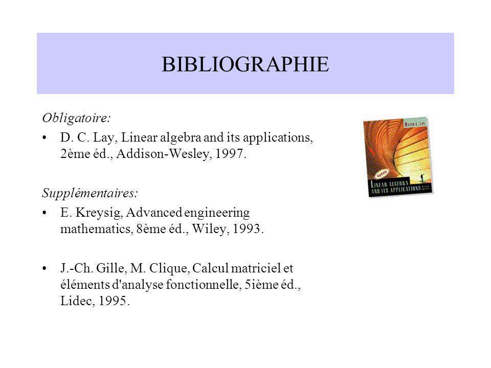 BIBLIOGRAPHIE Obligatoire: