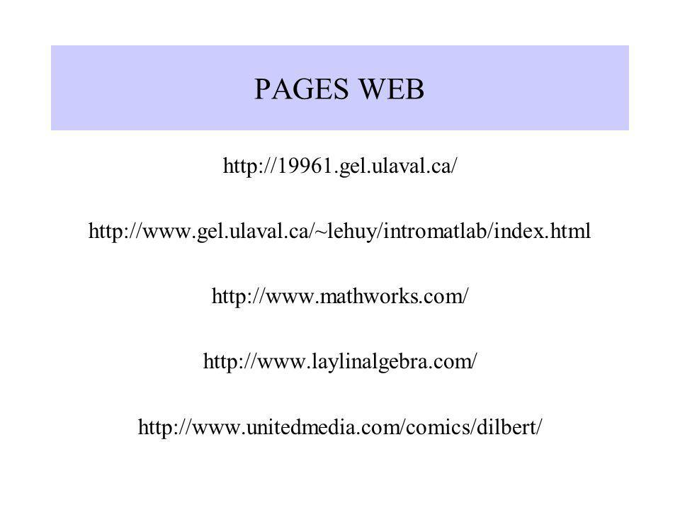 PAGES WEB http://19961.gel.ulaval.ca/