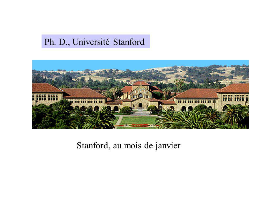 Ph. D., Université Stanford