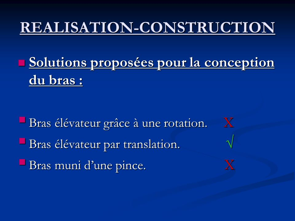 REALISATION-CONSTRUCTION