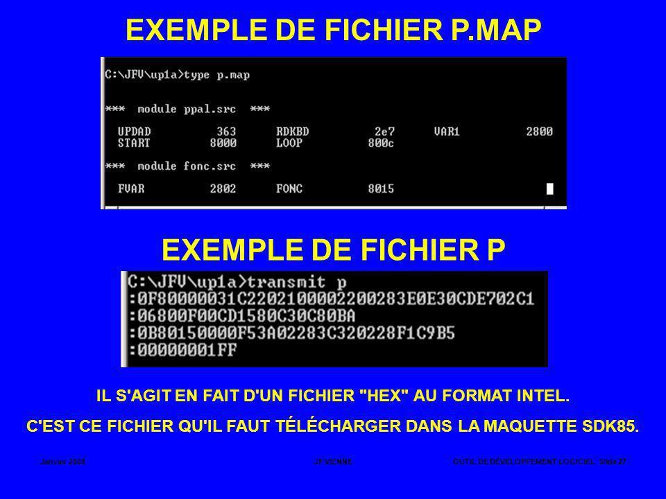 EXEMPLE DE FICHIER P.MAP EXEMPLE DE FICHIER P