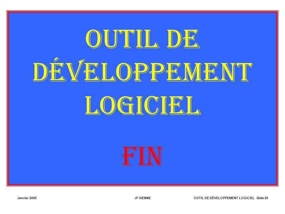 OUTIL DE DÉVELOPPEMENT LOGICIEL