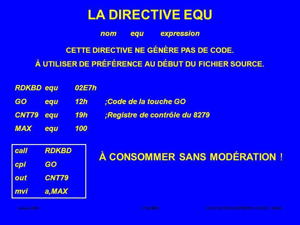 LA DIRECTIVE EQU À CONSOMMER SANS MODÉRATION ! nom equ expression