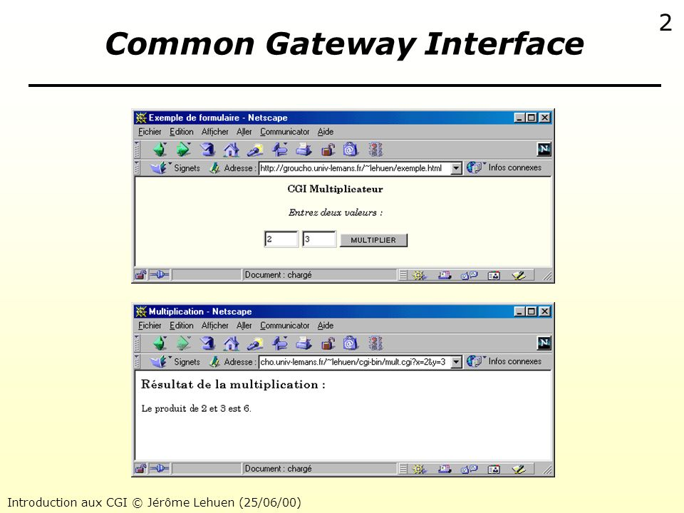 Common Gateway Interface