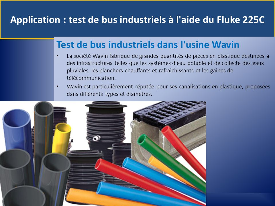 Application : test de bus industriels à l aide du Fluke 225C