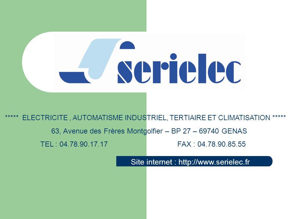 Site internet : http://www.serielec.fr