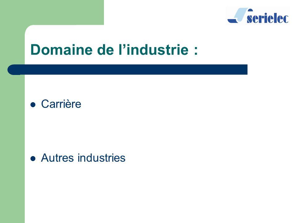 Domaine de l'industrie :