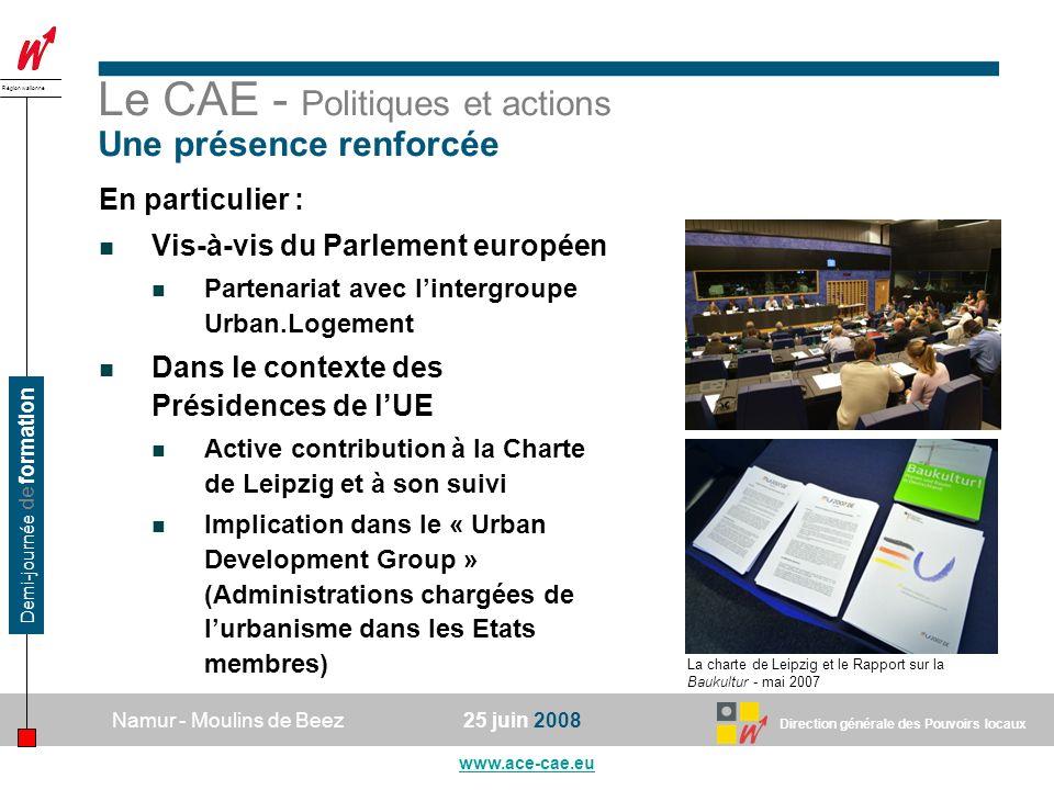 Le CAE - Politiques et actions