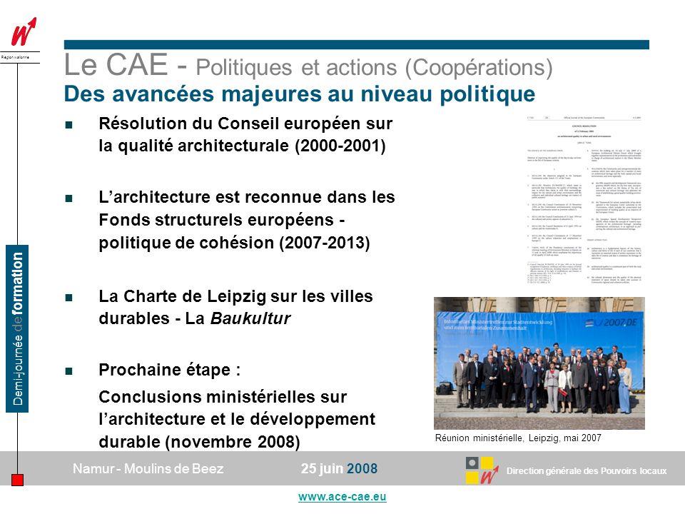 Le CAE - Politiques et actions (Coopérations)