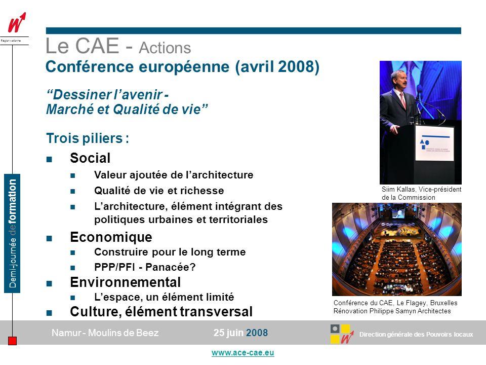 Le CAE - Actions Conférence européenne (avril 2008)