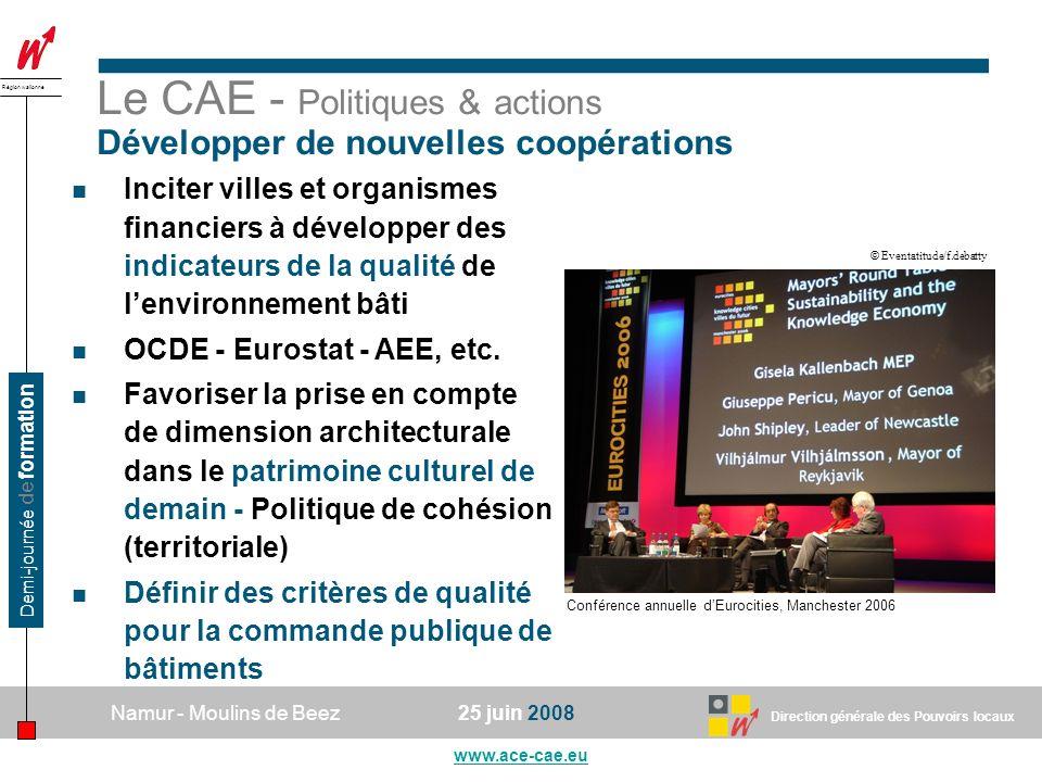 Le CAE - Politiques & actions