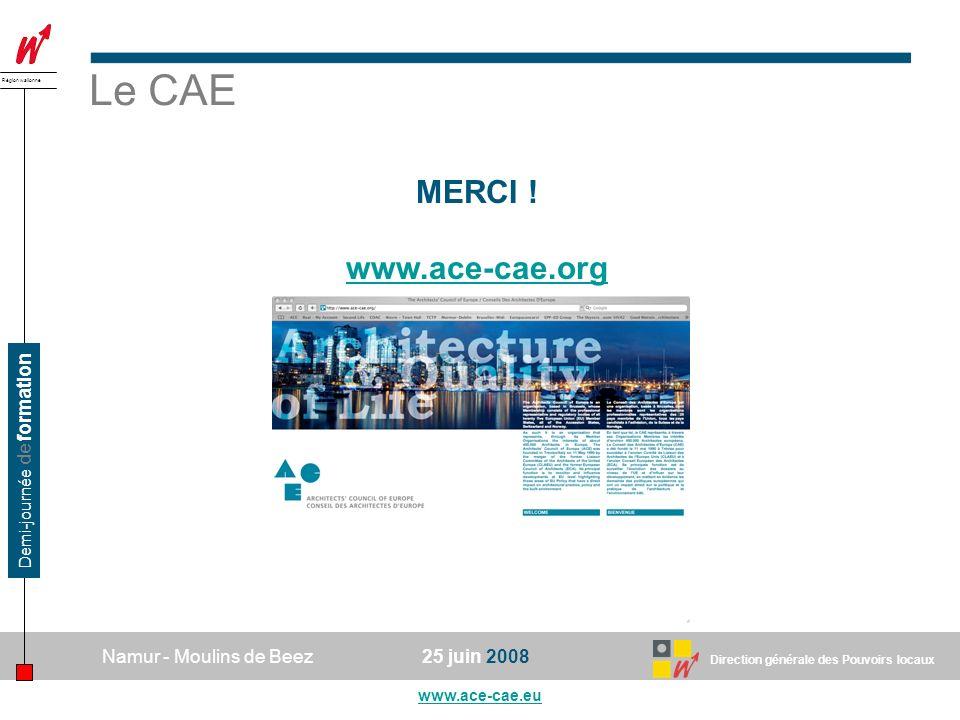 Le CAE MERCI ! www.ace-cae.org