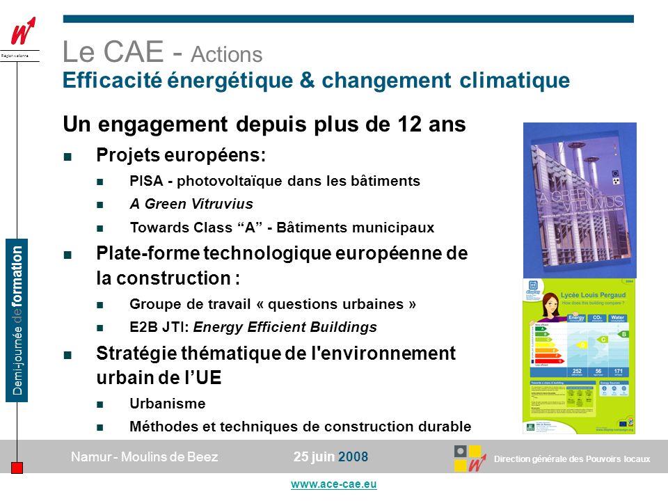 Le CAE - Actions Efficacité énergétique & changement climatique