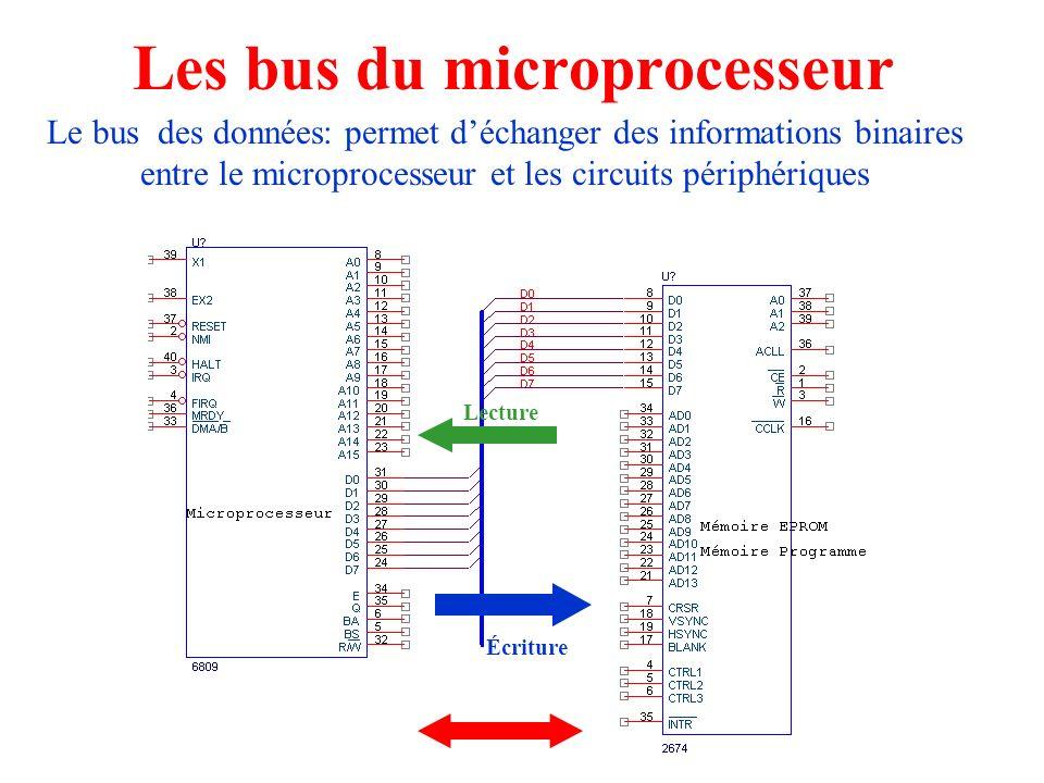 Les bus du microprocesseur