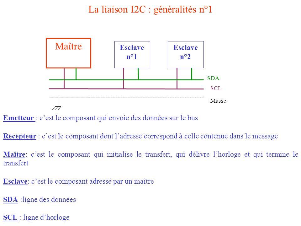 La liaison I2C : généralités n°1