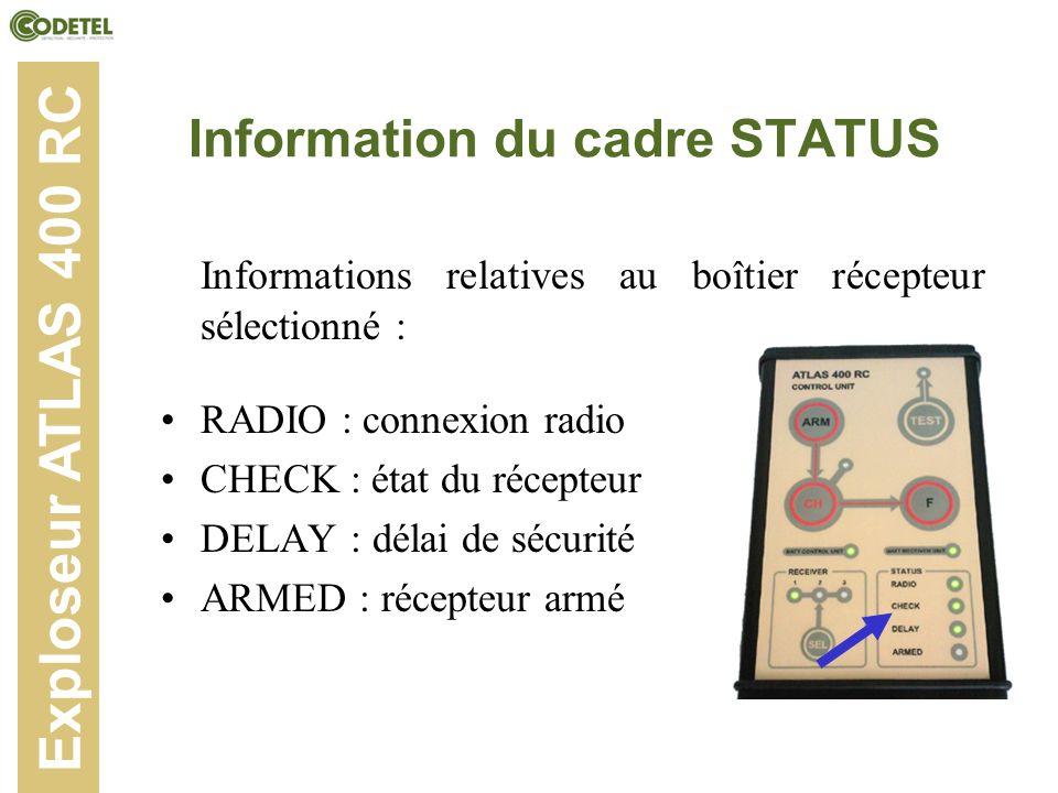 Information du cadre STATUS