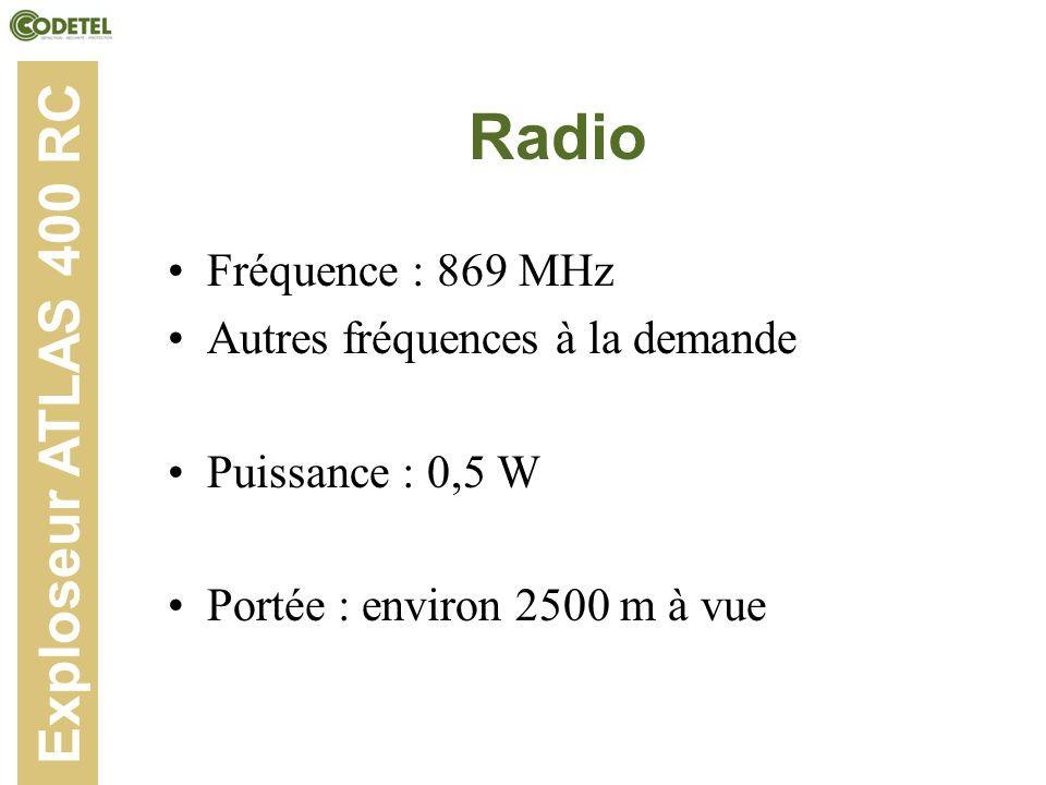 Radio Exploseur ATLAS 400 RC Fréquence : 869 MHz