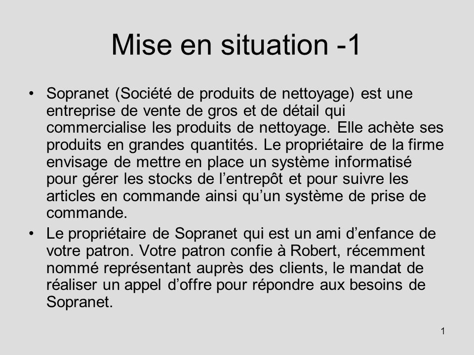 Mise en situation -1