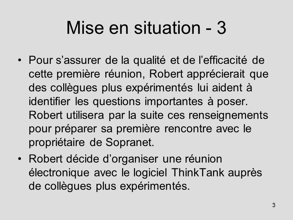 Mise en situation - 3
