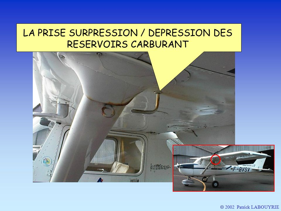 LA PRISE SURPRESSION / DEPRESSION DES RESERVOIRS CARBURANT