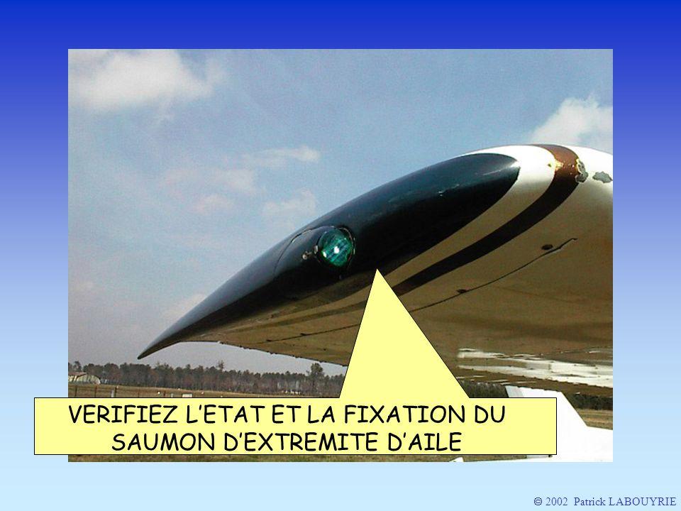 VERIFIEZ L'ETAT ET LA FIXATION DU SAUMON D'EXTREMITE D'AILE