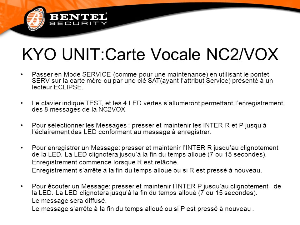KYO UNIT:Carte Vocale NC2/VOX