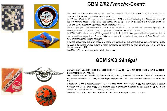 GBM 2/52 Franche-Comté GBM 2/63 Sénégal