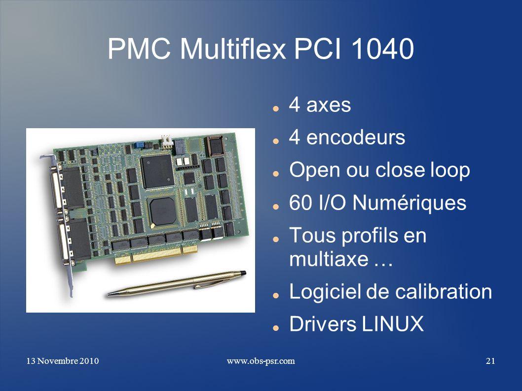 PMC Multiflex PCI 1040 4 axes 4 encodeurs Open ou close loop