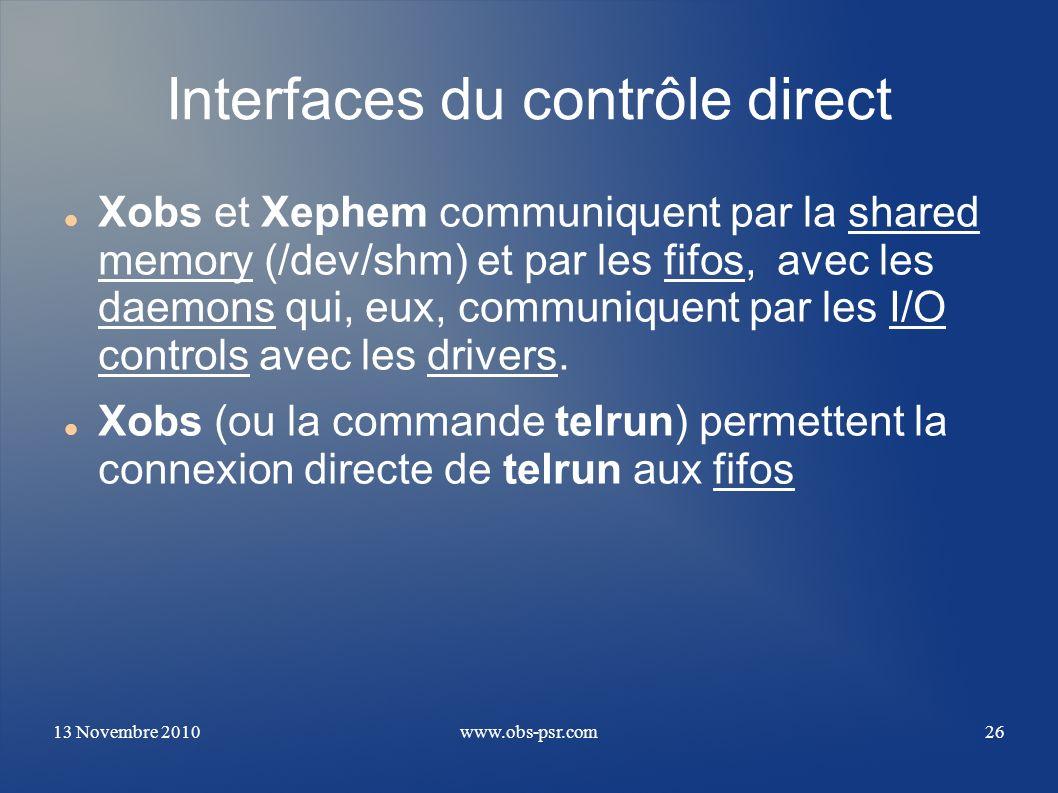 Interfaces du contrôle direct
