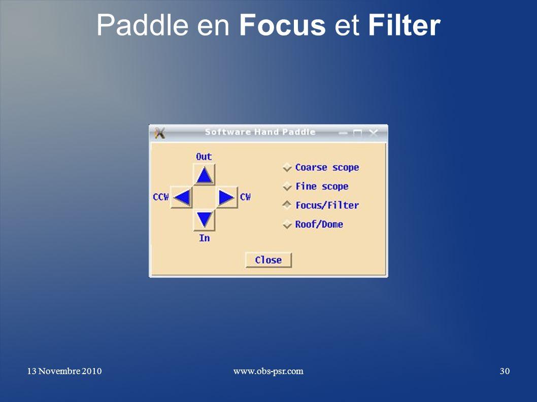 Paddle en Focus et Filter