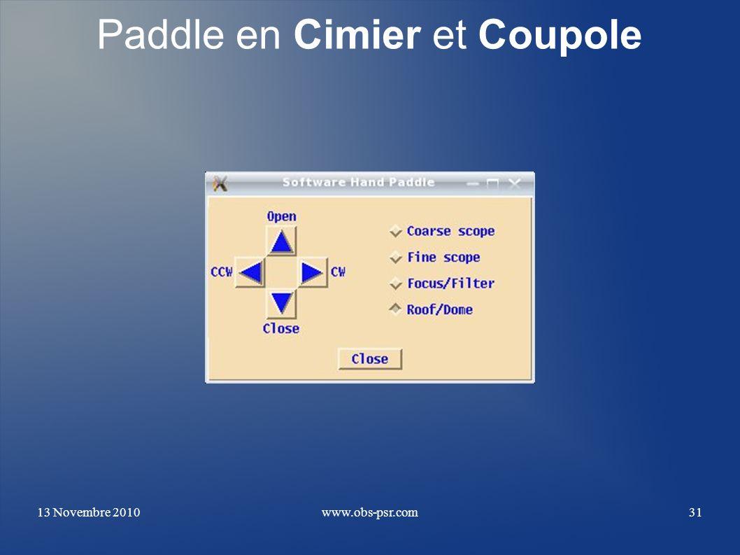 Paddle en Cimier et Coupole