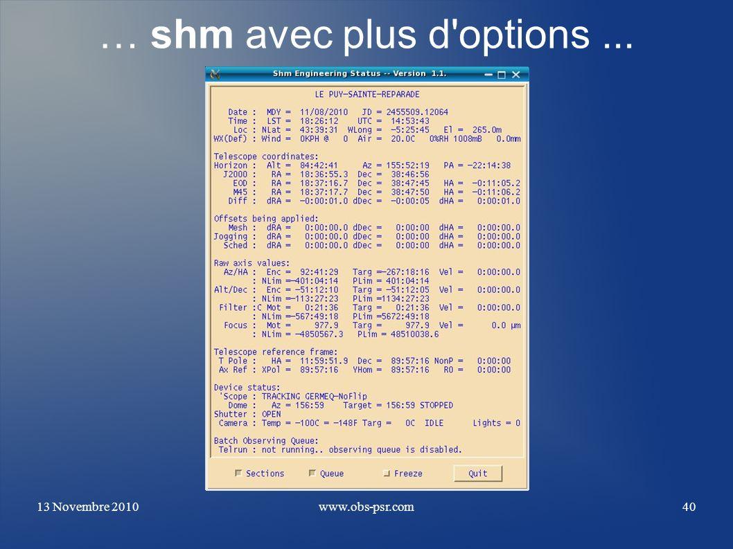 … shm avec plus d options ...