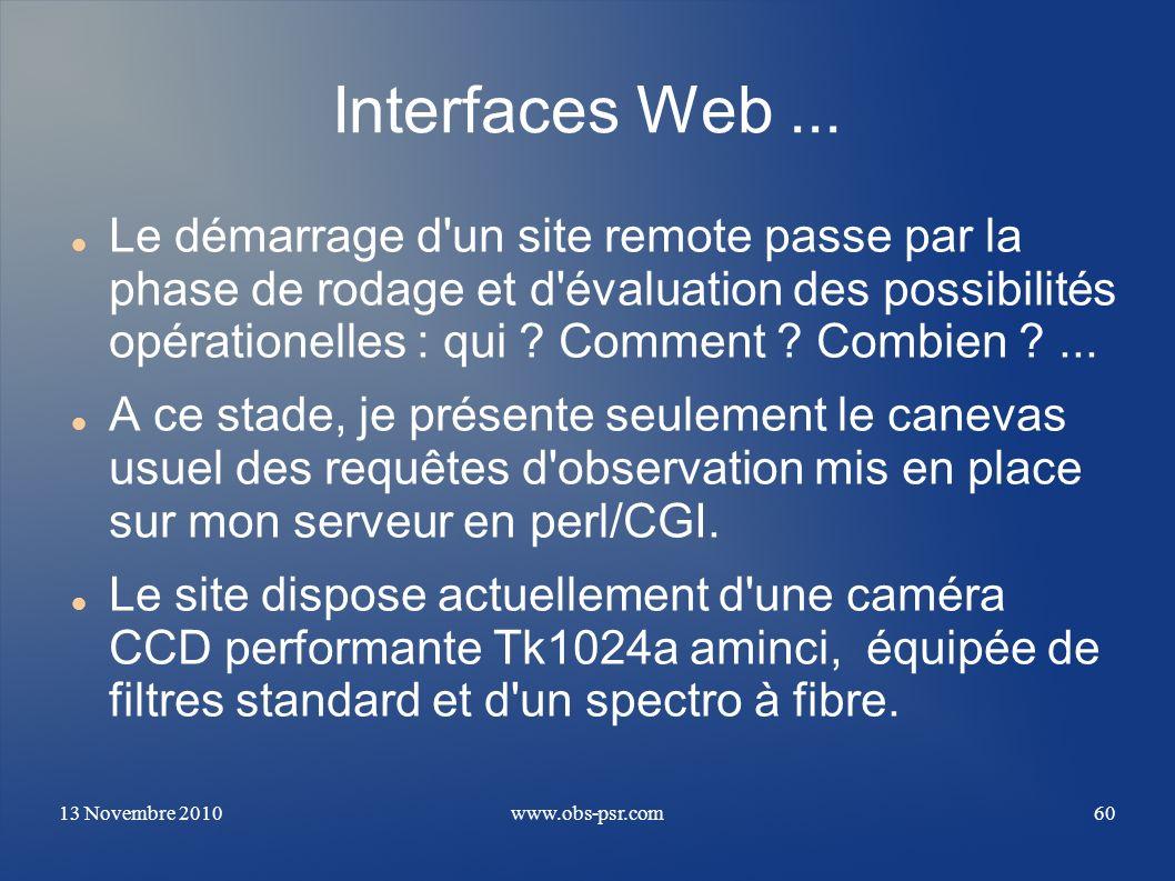 Interfaces Web ...