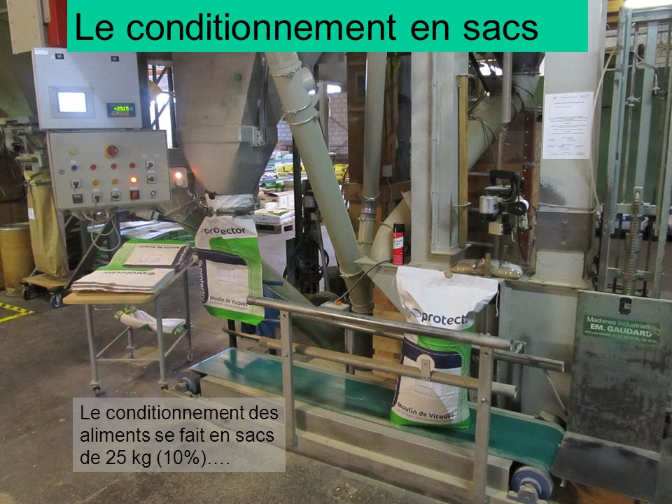 Le conditionnement en sacs