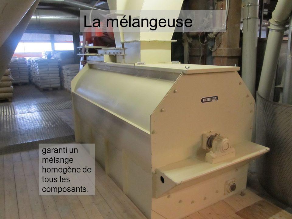 La mélangeuse garanti un mélange homogène de tous les composants.