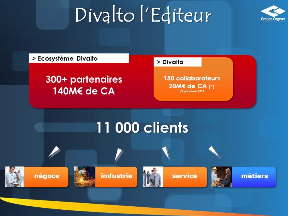 Divalto l'Editeur 11 000 clients 300+ partenaires 140M€ de CA