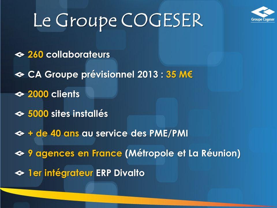 Le Groupe COGESER 260 collaborateurs