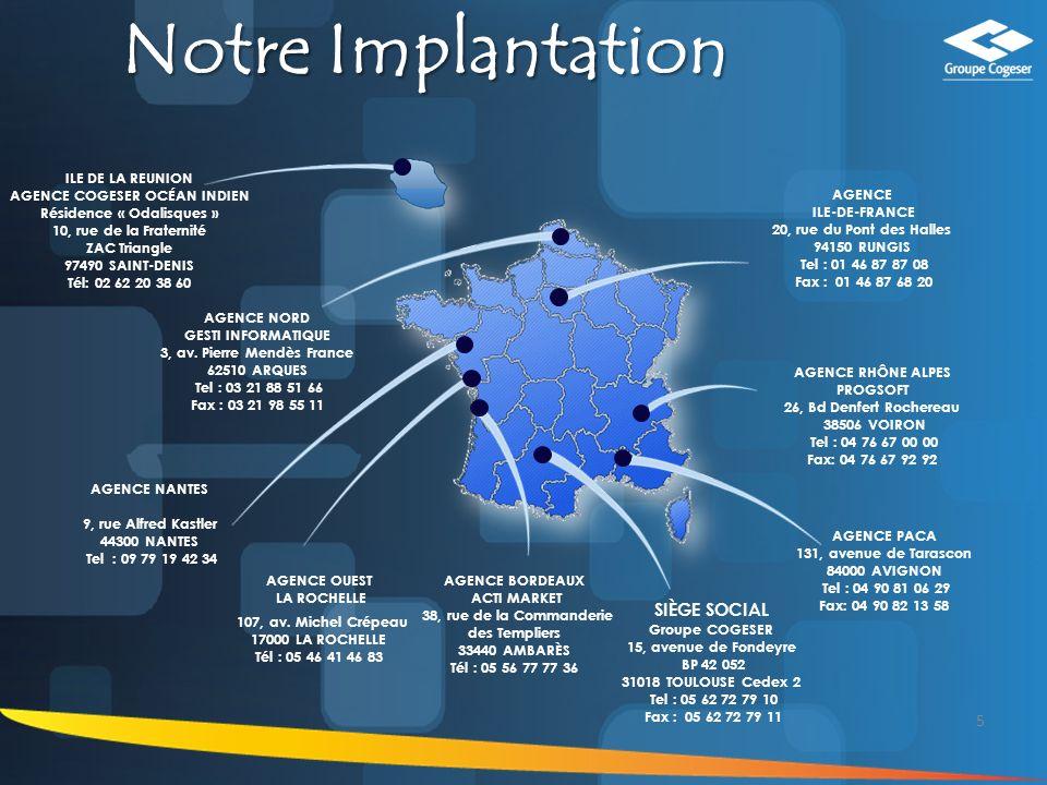 Notre Implantation SIÈGE SOCIAL 5 ILE DE LA REUNION
