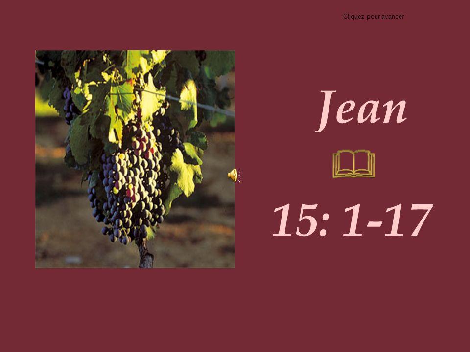 Cliquez pour avancer Jean 15: 1-17