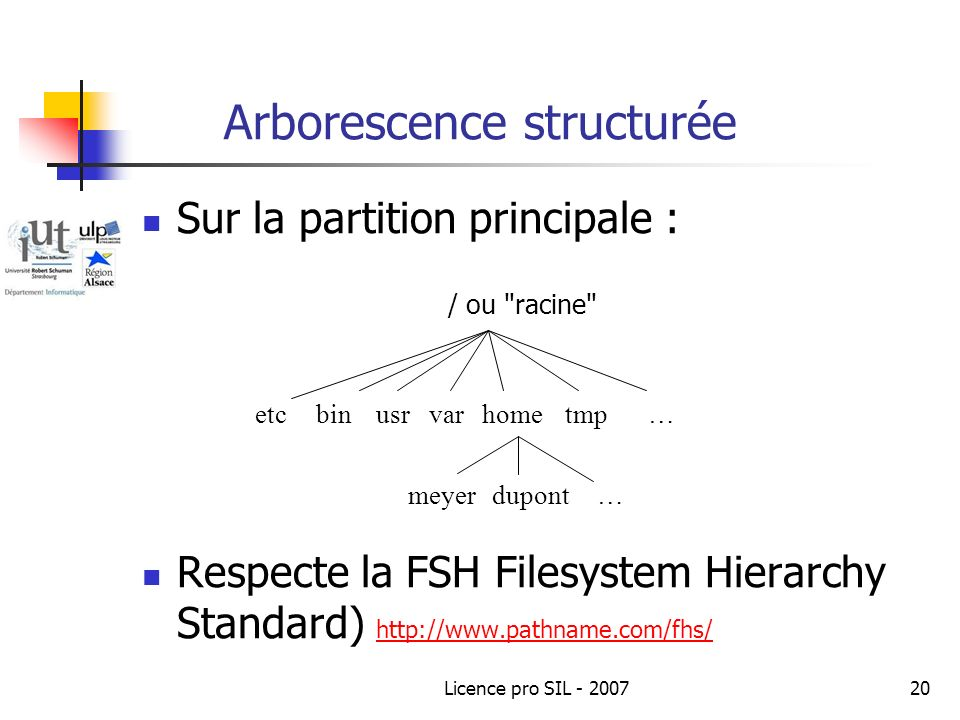 Arborescence structurée