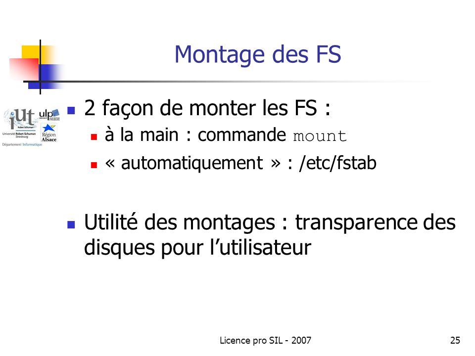 Montage des FS 2 façon de monter les FS :