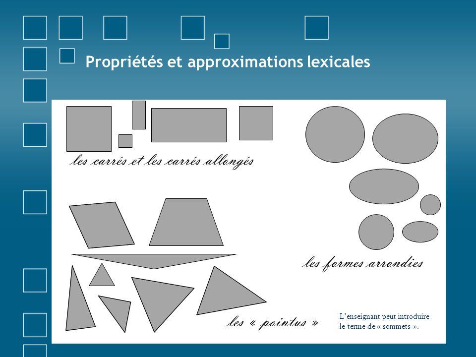 Propriétés et approximations lexicales