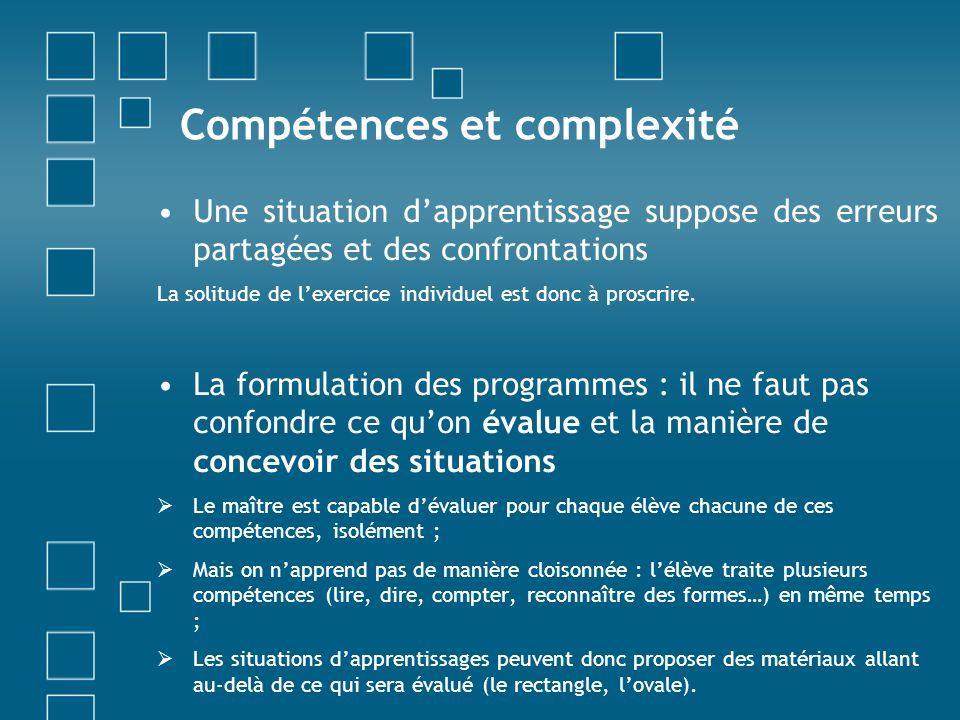 Compétences et complexité