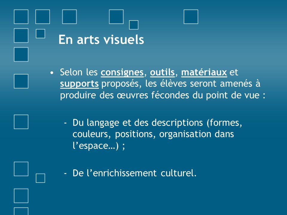 En arts visuels