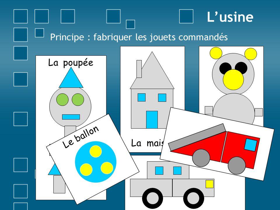 L'usine Principe : fabriquer les jouets commandés La maison La peluche