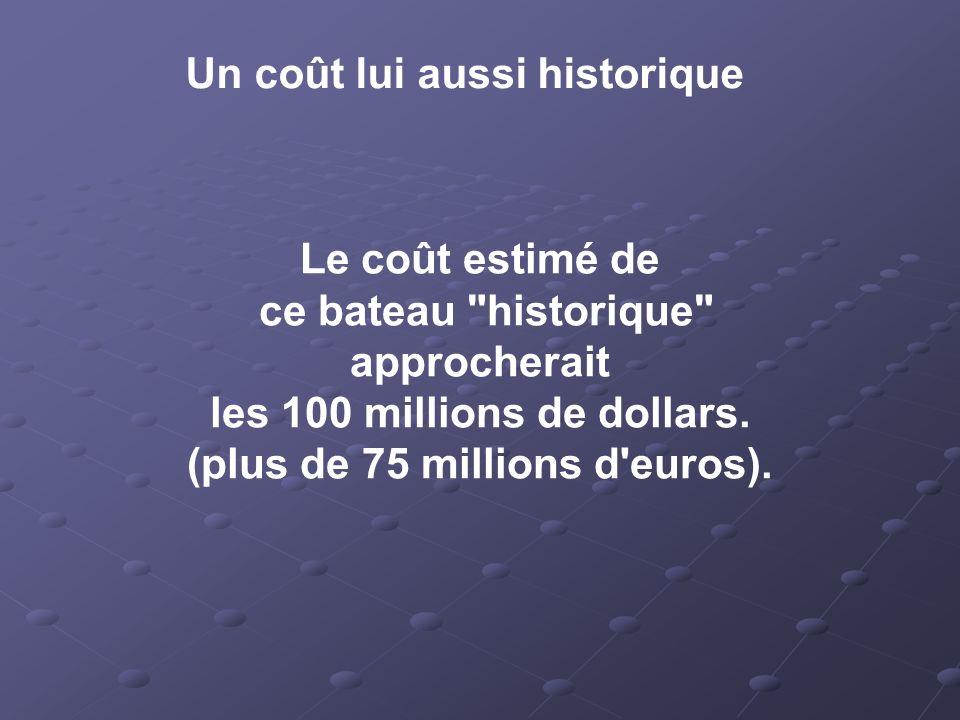 les 100 millions de dollars. (plus de 75 millions d euros).
